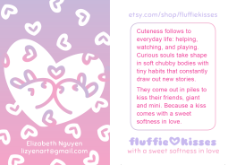 fluffie kisses business card / front&back (2015) More Info