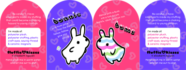 bunnie bums plushie tags (2015) More Info