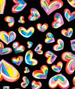close up hearts