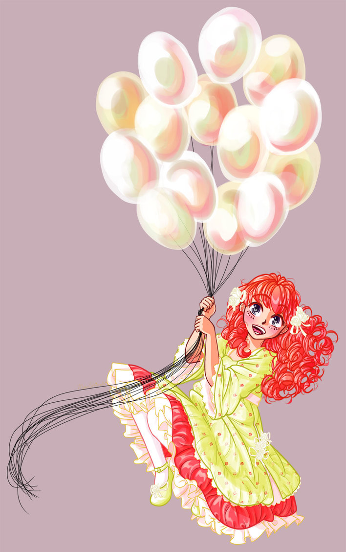 Fly with London Balloons -commission- Mimi Fairchild © Miha-Hime